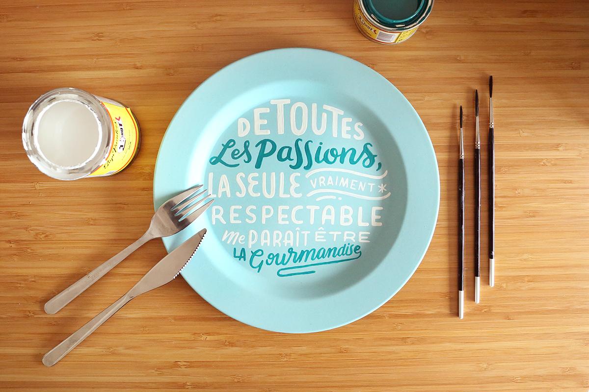 Assiette Maupassant